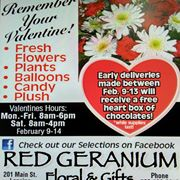 Red Geranium Gifts and Flowers