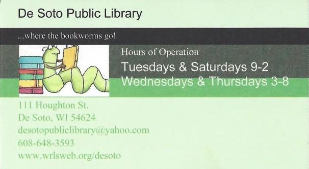 DeSoto Public Library business card