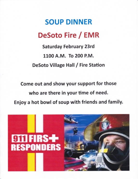De Soto Fire Dept-Soup Supper-Feb2019